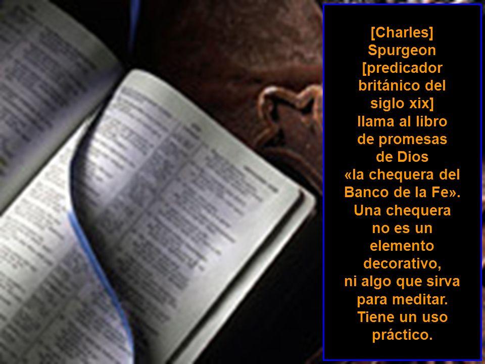 [predicador británico del siglo xix] llama al libro de promesas